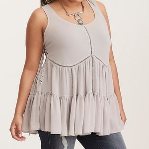 Torrid lace up side tank